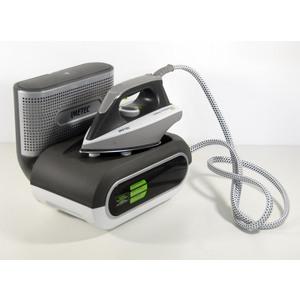 Imetec No-Stop Eco Professional Sistema Stirante, Ferro da Stiro con Piastra in Acciaio Inox e Generatore di Vapore