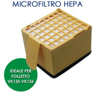 VORWERK FOLLETTO MICROFILTRO IGIENICO VK 135/136 ORIGINALE