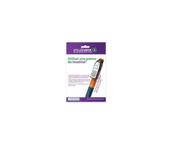 Memoria per penna insulcheck per controllo dell'insulina