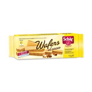 Wafer al cacao senza glutine e senza lattosio