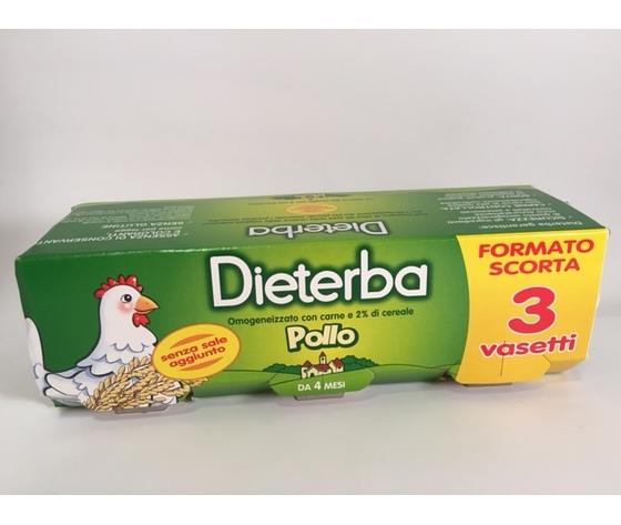 dieterba omogenizzato con carne 2% cereali da mesi quattro