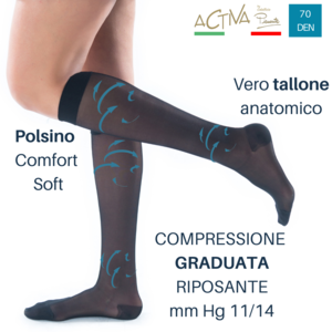 Gambaletto Classic 70 denari - Calze elastiche contenitive