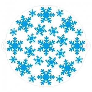 stencil fiocchi di neve diam.25 cm