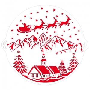 stencil paesaggio natalizio diam 25 cm