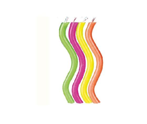 candela set 10 pz  curva colore arcobaleno