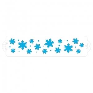 STENCIL FROZEN STAR 7X30 CM
