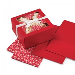 scatola rossa con fogli set 3