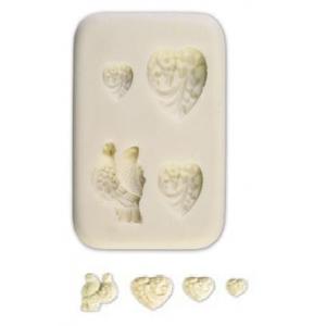 Stampo silicone Cuore e Colombe