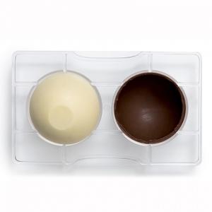 Stampo cioccolatino MEZZA SFERA con base diam 50  mm