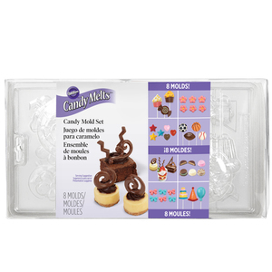 stampo cioccolato/candy  melt  PARTY PACK  set 8