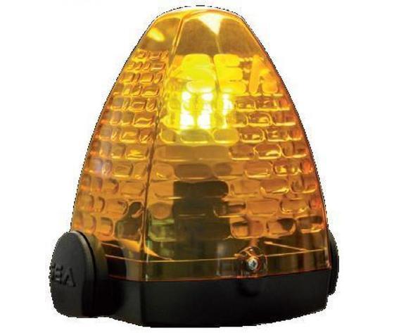 Lampeggiatore in policarb. Sea per cancelli automatici  Alim. 230V