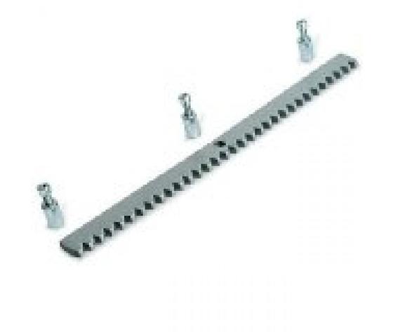 Cremagliera zincata modulo 4,2mt. + accessorio fissaggio per cancello scorrevole
