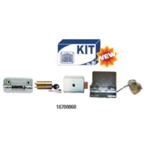 Kit elettroserratura  con controbocchetta + cilindro int./est. E controbocchetta
