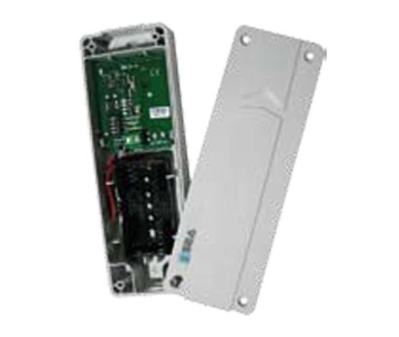Trasmettitore per coste radio 858 MHZ da installare sull'anta del cancello