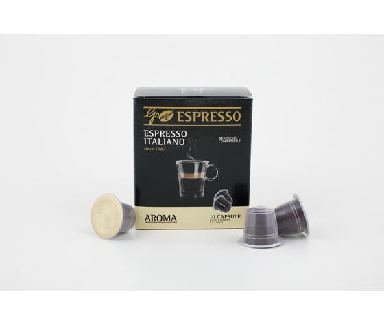 Capsule GoCaffè GoEspresso Aroma - Confezione Box 10 Pezzi