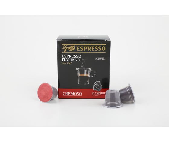 Capsule GoCaffè GoEspresso Cremoso - Confezione Box 10 Pezzi