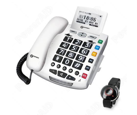 TELEFONO AMPLIFICATO CON PULSANTE DI CHIAMATA SOS A DISTANZA SERENITIES