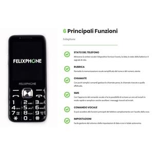 FELIXPHONE CELLULARE PARLANTE PER IPOVEDENTI E NON VEDENTI