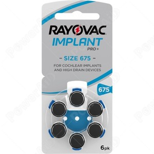 BLISTER 6 PILE RAYOVAC IMPLANT PRO+