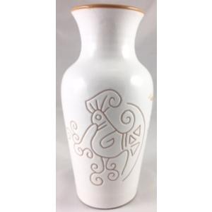 "Vaso 1 litro a ""v""  linea bianco terra"