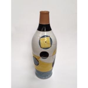 Bottiglia Arredamento giallo/nero/grigio cm 44x16