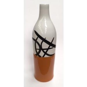 Bottiglia Arredamento Miele/Bianco/Nero cm 53x17