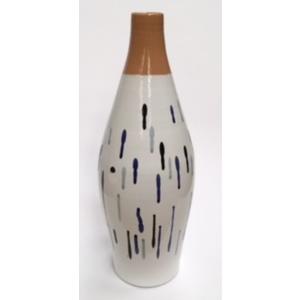 Bottiglia Arredamento bianca/blu/nero/grigio cm 48x17