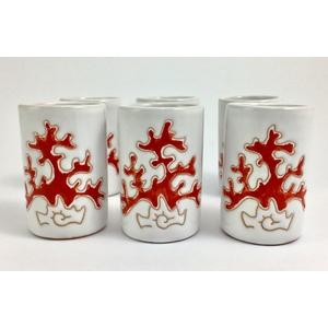 Set 6 Biccchieri mirto/liquore Linea Corallo Rosso