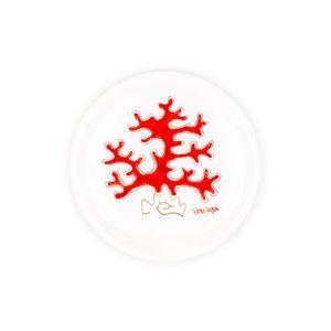 Piatto cm 16 linea corallo rosso