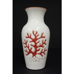 """Vaso 1 litro a """"v""""  linea corallo rosso"""