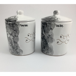 Coppia di 2 Barattoli da cucina linea ossidiana