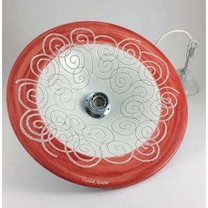 Lampadario cm 35 Linea Spirale bianco/rossa