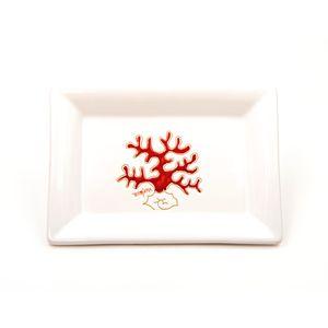 Vassoio portacioccolatini Linea Corallo Rosso