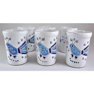 Servizio da 6 Bicchieri acqua  linea mare