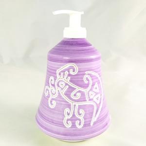 Dispenser per sapone liquido linea viola cm 11x17