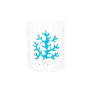 Tegola Corta linea corallo azzurro con 6 aperture a rombo
