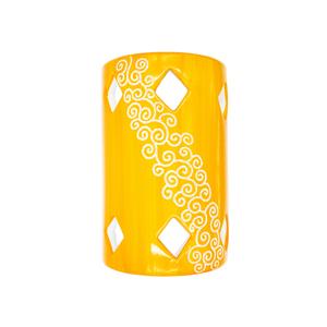 Tegola Lunga a parete Linea Arancione cm 30x19x9