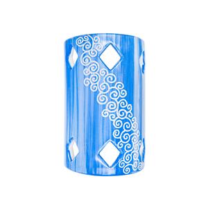 Tegola Lunga a parete Linea Blu Elettrico cm 30x19x9