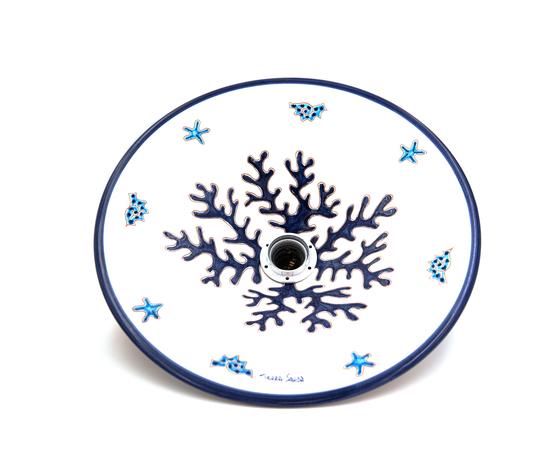 Lampadario 35 cm circa Linea Corallo Blu