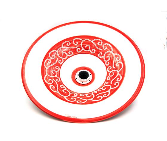 Lampadario 38 cm linea fascia rossa