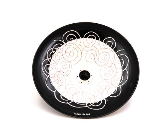 Lampadario cm 33 Linea Spirale bianco/nero