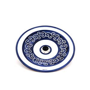 Lampadario cm 34/35 Linea riccioli blu