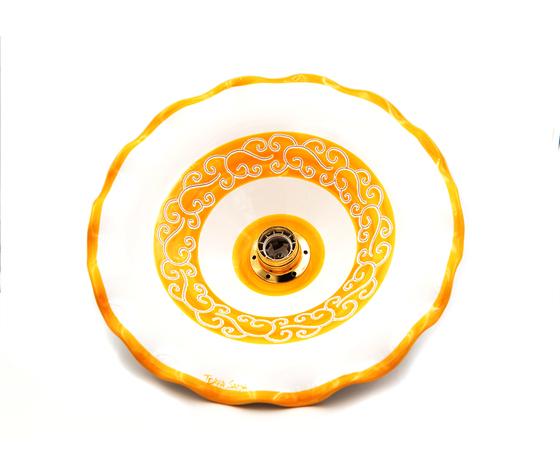 Lampadario ondulato 34 cm linea Arancione