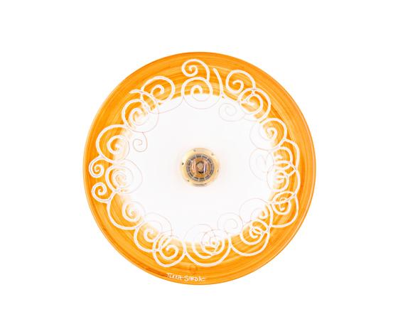 lampadario cm 30 linea spirale marrone