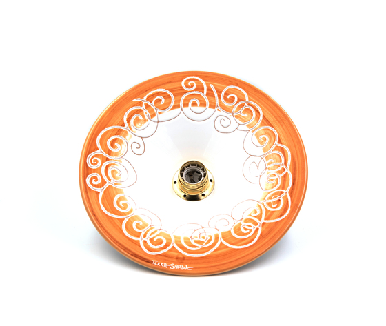 lampadario cm 34 linea spirale marrone
