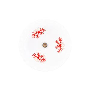 lampadario ondulato cm 34/35 linea Corallo Rosso