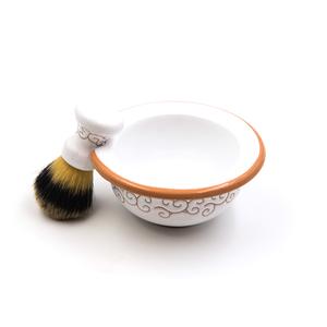 Set da barba Pennello + Ciotola linea Bianco Terra
