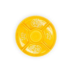 Antipastiera tonda 5 posti linea arancione cm 30,5