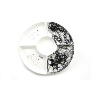 Antipastiera tonda 5 posti linea ossidiana cm 30,5