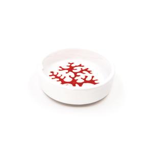 Portacenere dritto maxi Linea Corallo Rosso